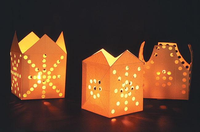 portalumini fai da te, portalumini, decorazioni di carta, decorazioni con la carta, portalumini di cartone, lumini a cera fai da te, fai da te
