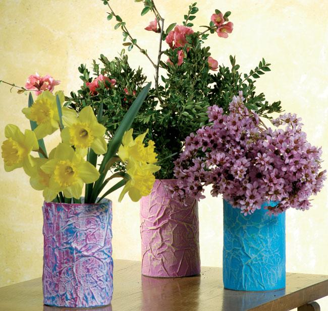 Vasi di carta fai da te bricoportale fai da te e bricolage for Vasi di legno