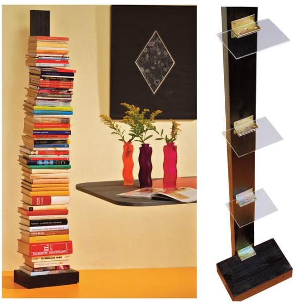 Libreria verticale fai da te in plexiglas