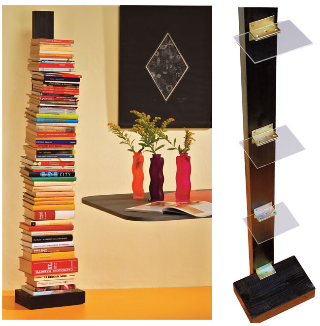 verticale fai da te, libreria a colonna, libreria a colonna fai da te ...