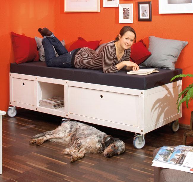 fai da te, costruire un divano, divano letto fai da te, letto fai da ...