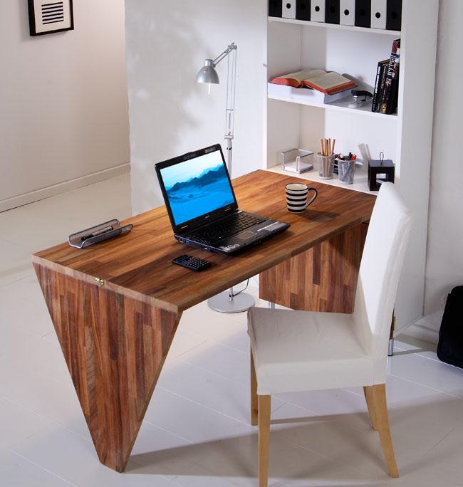 Come costruire una scrivania da parete bricoportale fai - Parete in legno fai da te ...