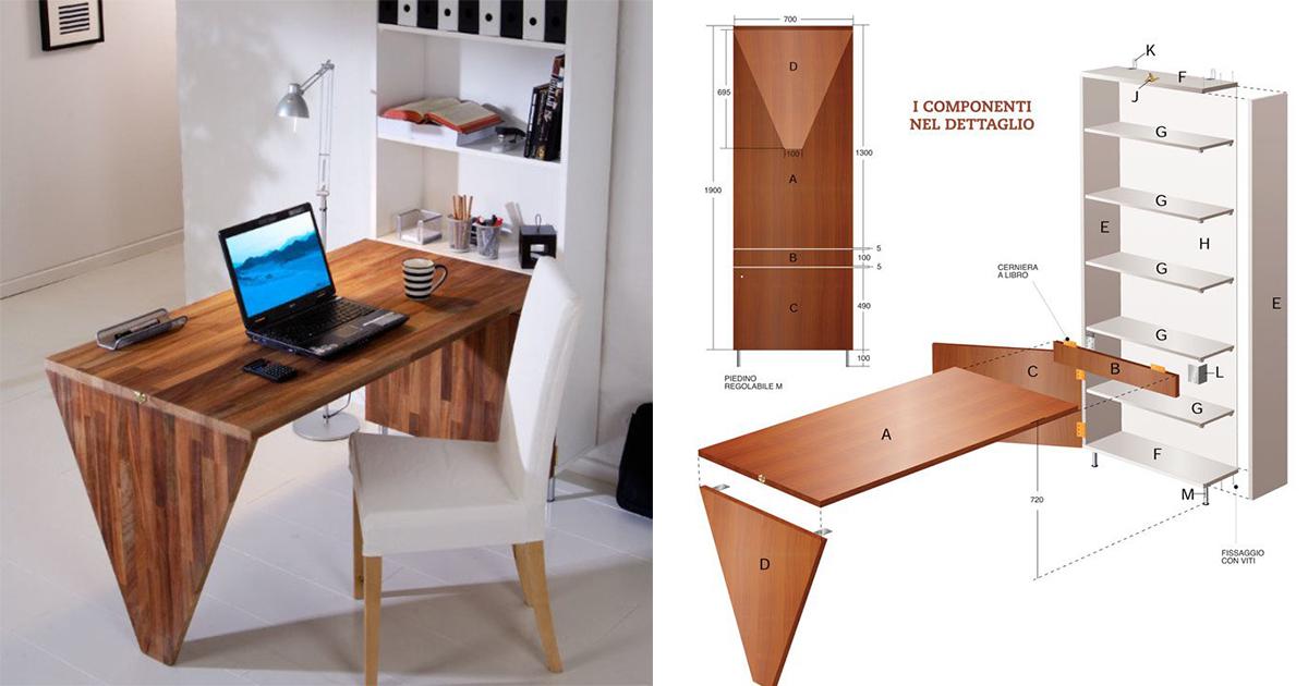 Come costruire una scrivania da parete bricoportale fai for Decorazioni da scrivania