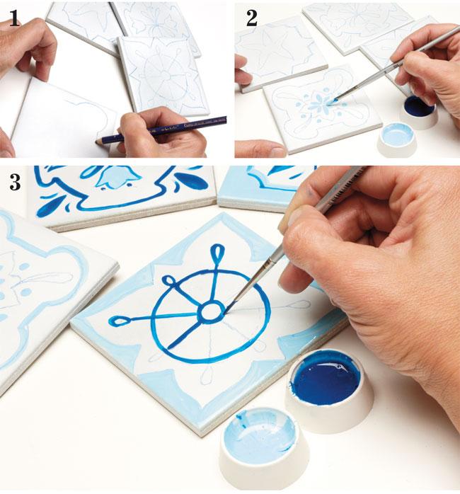 Azulejos fai da te come decorare le piastrelle - Decorazioni pareti fai da te ...