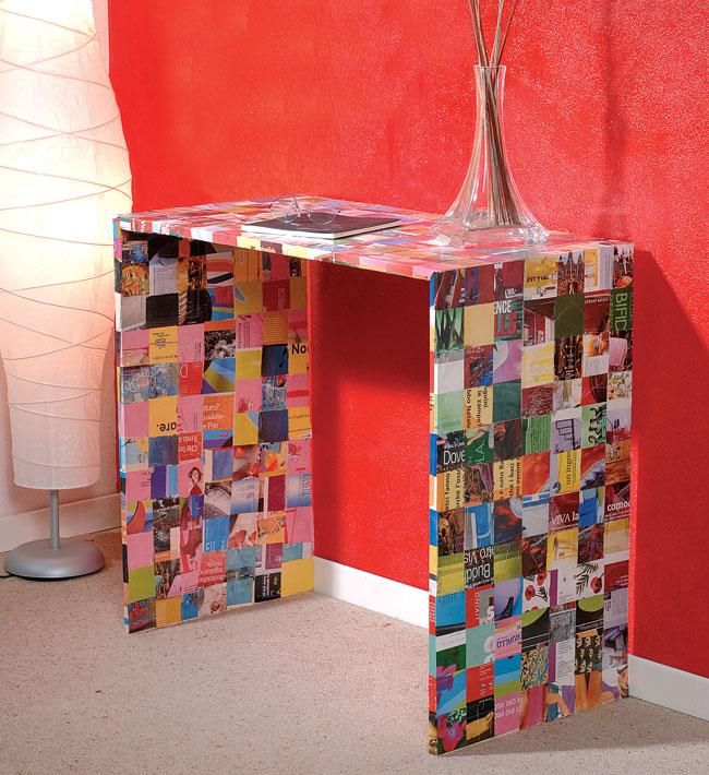 tavolo patchwork, tavolo fai da te, patchwork, tavolo decorato