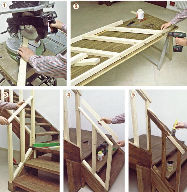 ringhiera scala in legno fai da te