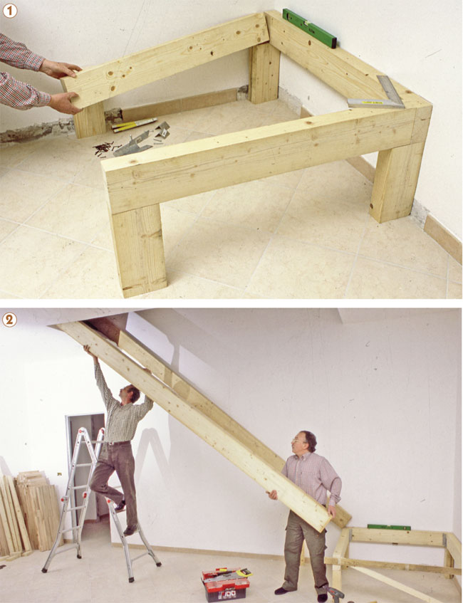 telaio scala in legno