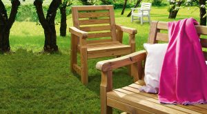 Arredo giardino fai da te | Come costruire una panca e sedia in legno
