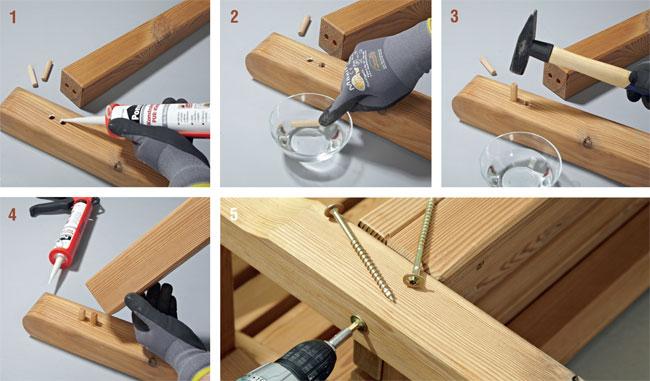 unire il legno con spine