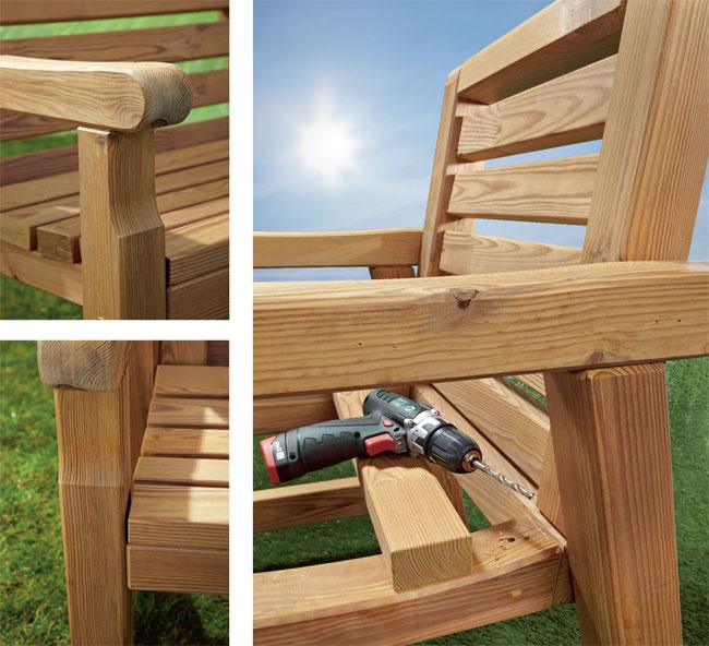 Arredo giardino fai da te come costruire una panca e for Arredo giardino legno