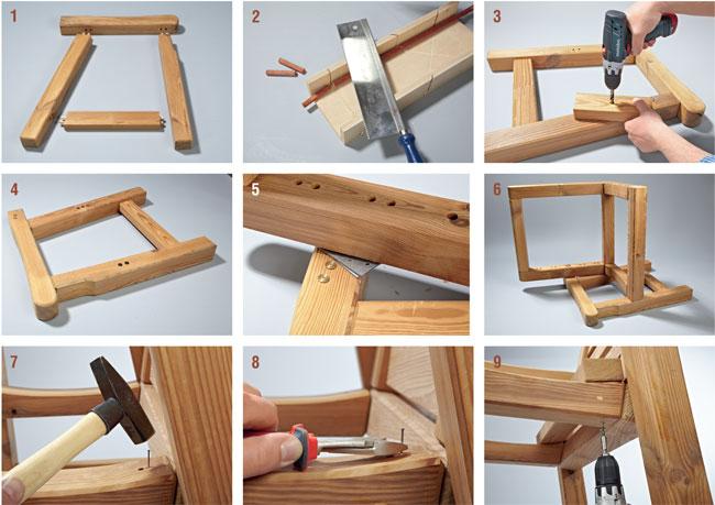Come costruire una sedia in legno xr85 regardsdefemmes - Fai da te arredo giardino ...