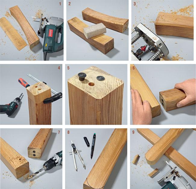 Arredo giardino fai da te come costruire una panca e sedia in legno - Costruire mobili in legno fai da te ...