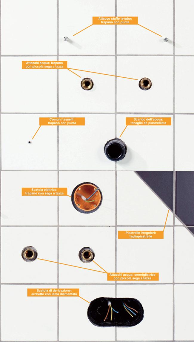 Forare le piastrelle guida illustrata - Forare piastrelle ...
