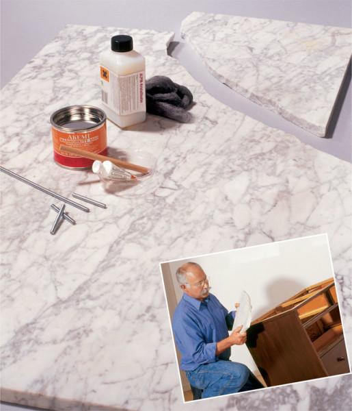Riparare il marmo rotto o scheggiato