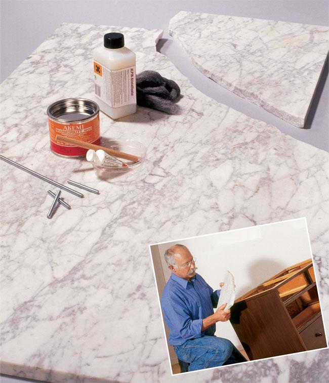 riparare il marmo
