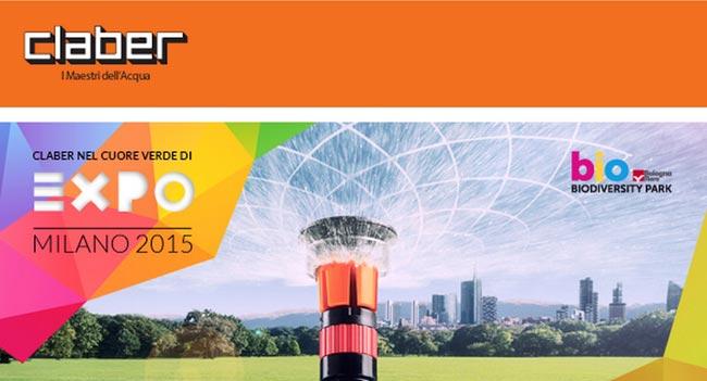 Irrigazione Claber a Expo 2015