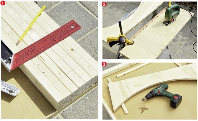taglio montanti legno
