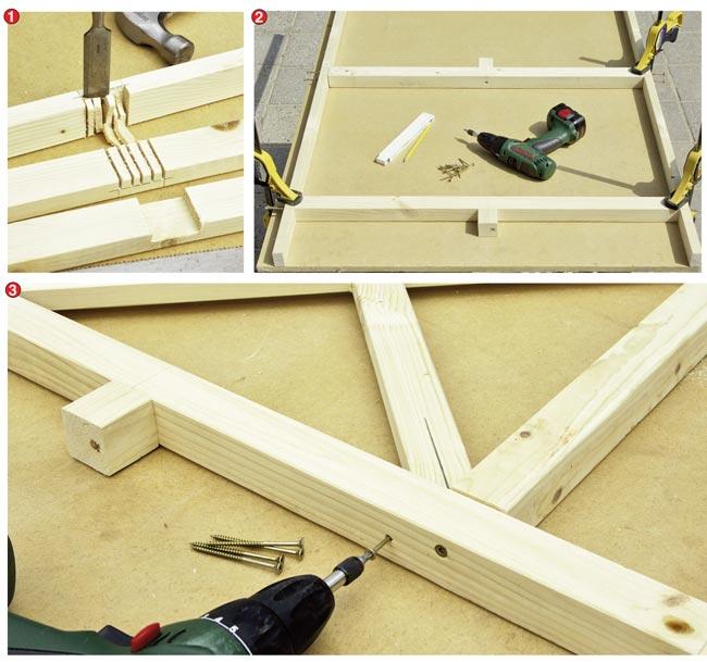 Come costruire un gazebo in legno 30 foto descritte - Costruire mobili in legno fai da te ...