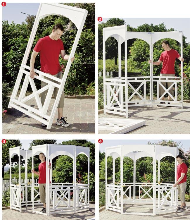 Come fare un gazebo affordable gazebo a tunnel x in ferro for Costruire un gazebo in ferro
