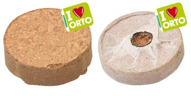 Pastiglie in fibra di cocco