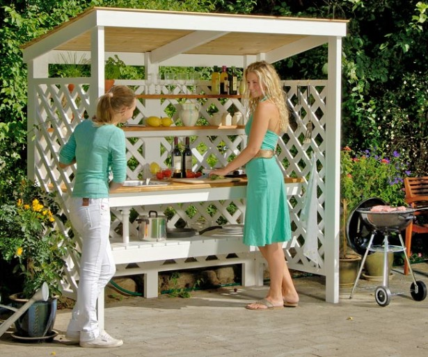 Costruire una cucina da esterno in legno d'abete