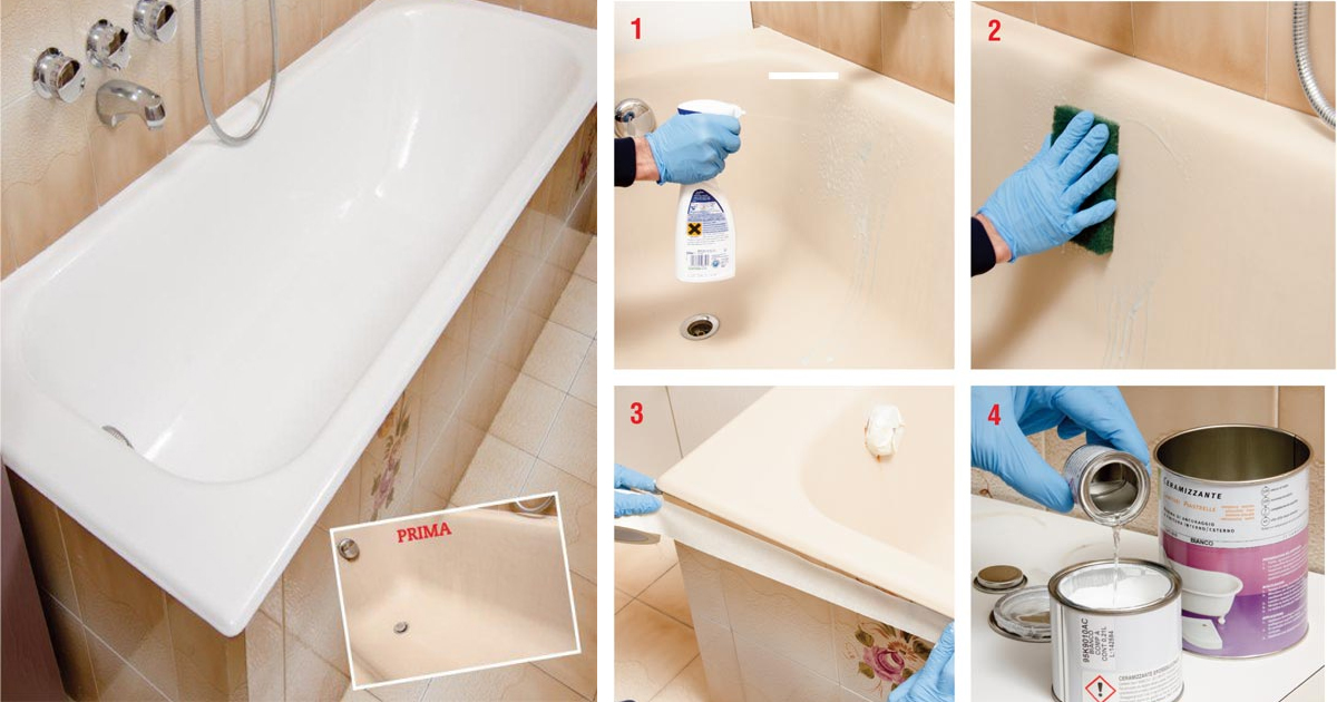 Vasca Da Bagno Smalto Rovinato : Rinnovare la vasca da bagno fai da te bricoportale