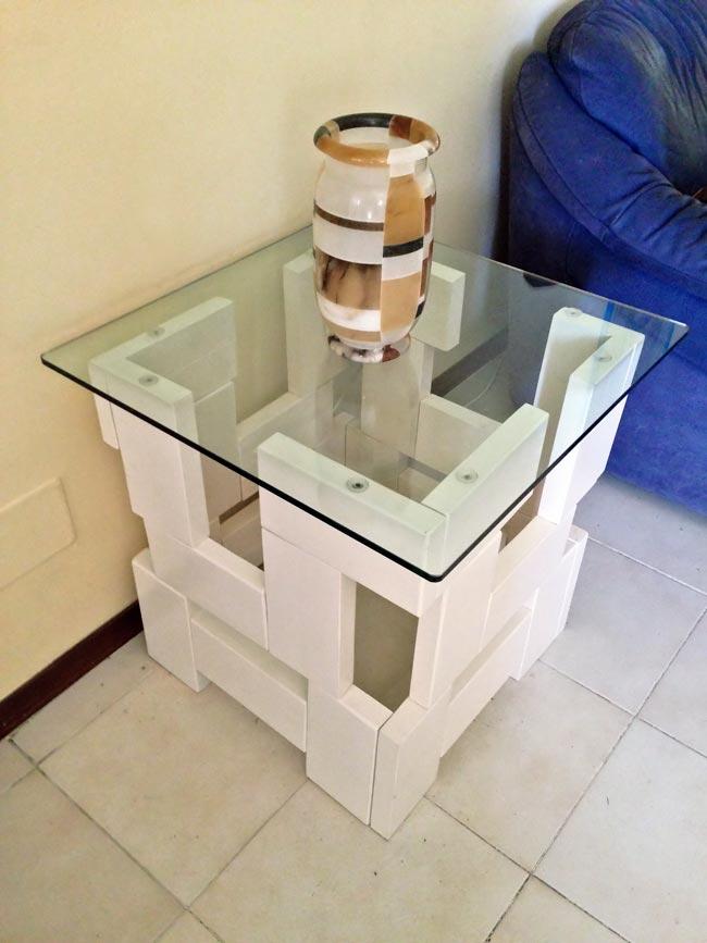 Tavolo da salotto design, Tavolo da salotto fai da te, Tavolo da salotto di legno