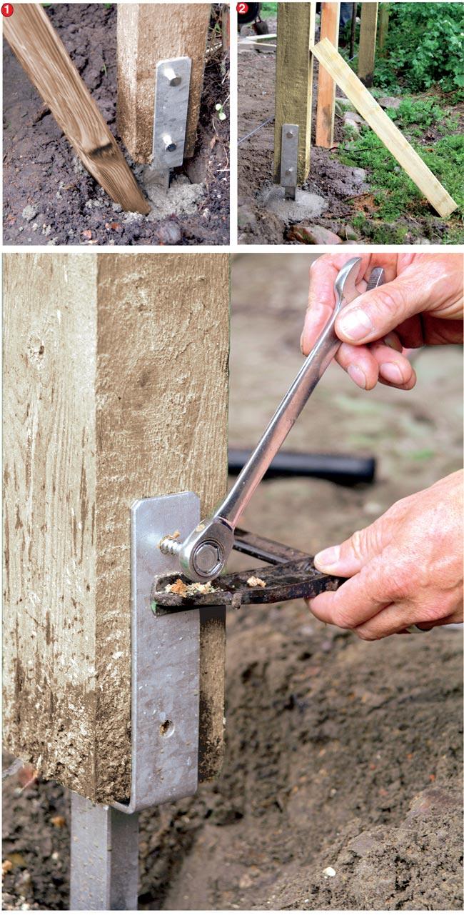 Come piantare un palo stabile e duraturo bricoportale fai da te e bricolage - Palizzate in legno per giardino ...