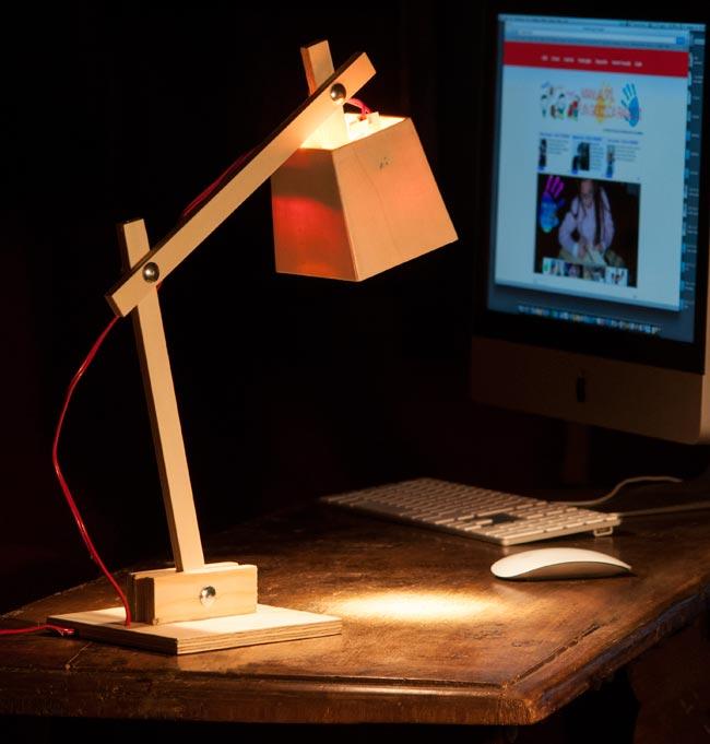 lampada di legno fai da te