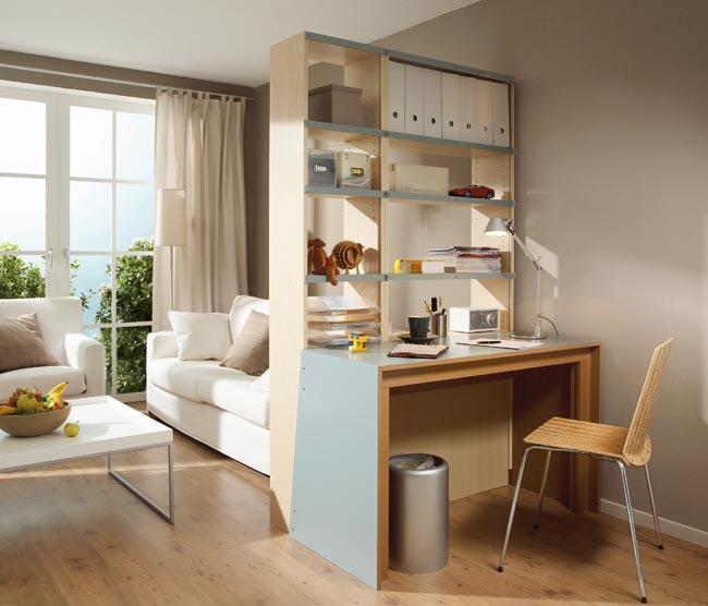 Libreria divisoria fai da te bifrontale idee ed esempi for Idee arredamento soggiorno fai da te