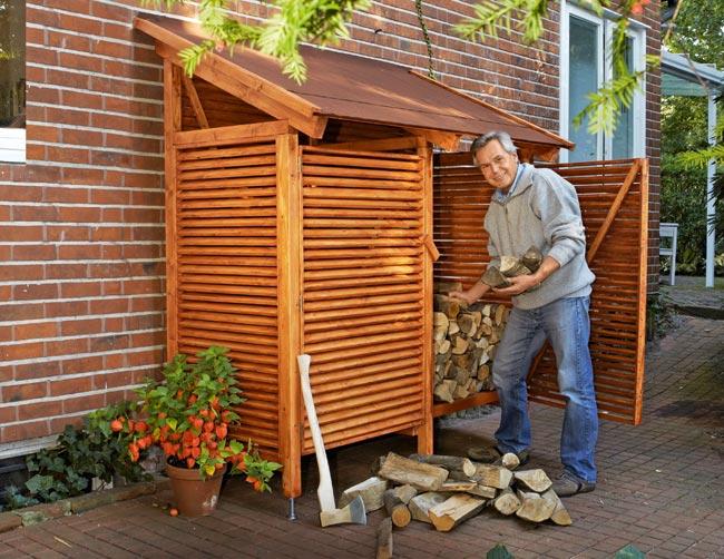 Costruire una legnaia fai da te da esterno con tettoia for Progetti in legno da realizzare