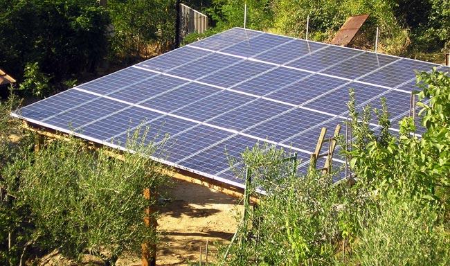 Pergolato fotovoltaico fai da te