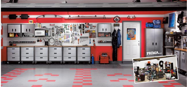 Arredamento garage idee e soluzioni nel dettaglio for 2 piani di garage per auto con soppalco