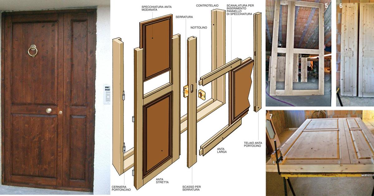 Come costruire un portoncino per l 39 ingresso bricoportale for Spranga per porta fai da te