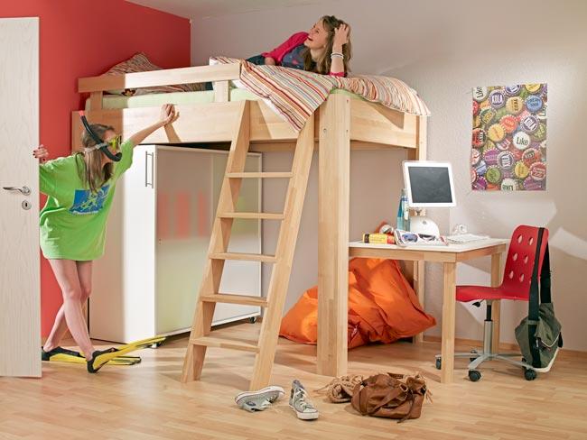 Costruire un letto a soppalco fai da te con scrivania dedicata - Costruire mobili in legno fai da te ...