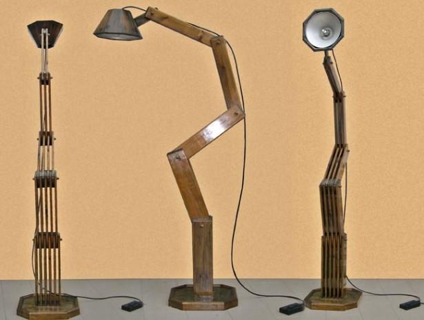 Lampada fai da te in legno di alto design