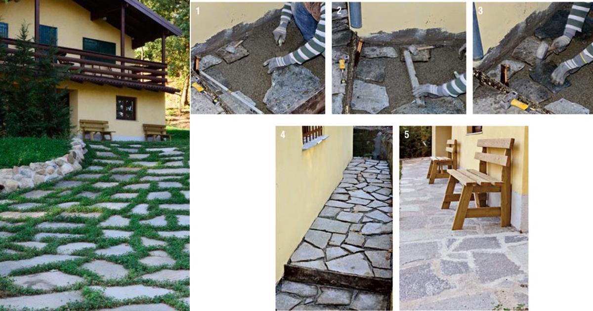 Come posare la pietra naturale bricoportale fai da te e bricolage