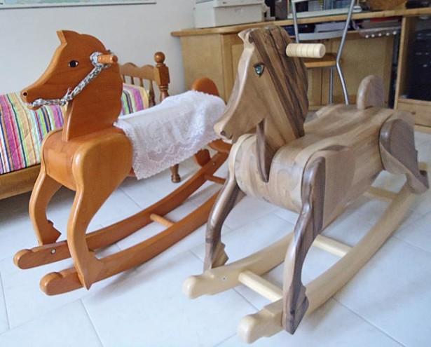Cavallo a dondolo fai da te in legno