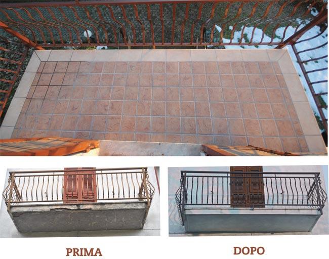 Risanare il balcone fai da te guida dettagliata - Pulire fughe piastrelle da olio ...
