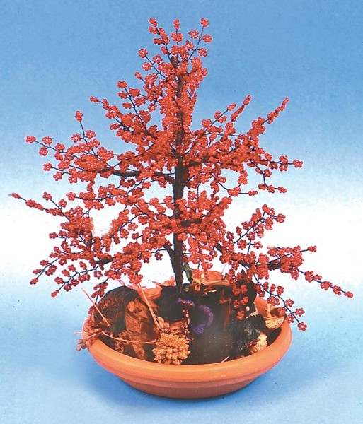 Bonsai di perline a forma di acero giapponese