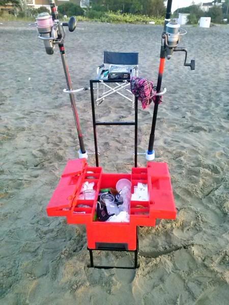 Carrello da spiaggia fai da te per Surfcasting