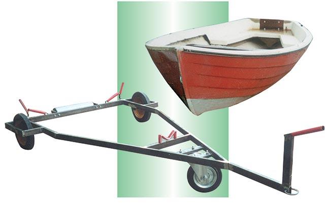 carrello portabarca fai da te