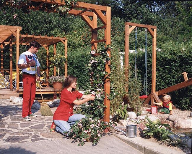 Pergolato fai da te per fiori rampicanti bricoportale for Costruire un pergolato in legno fai da te