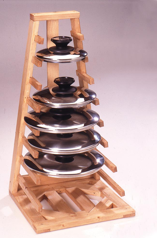 Portacoperchi fai da te da cucina bricoportale fai da - Parete in legno fai da te ...