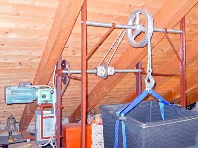 Verricello elettrico fai da te da soffitto