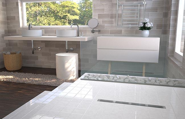 Caditoia a pavimento compatta per docce basicflow for Pavimento esterno brico casa