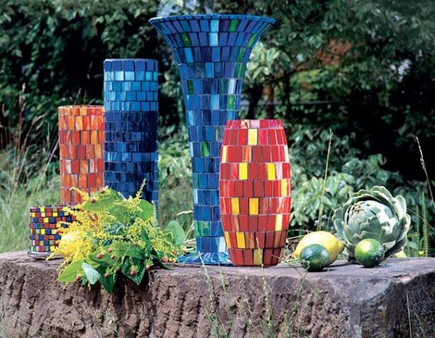 Decorare vasetti di vetro con tessere mosaico | Guida passo-passo