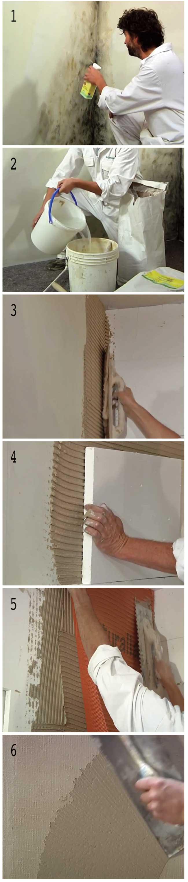 Muffa sui muri come eliminarla sistematicamente - Togliere la muffa dai muri di casa ...