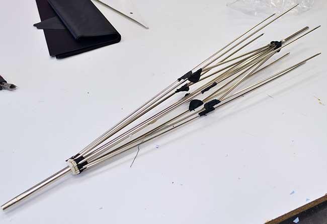 stecche e asta ombrello (ragno)