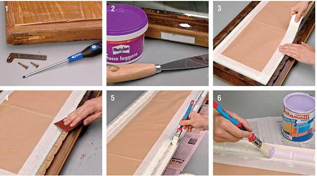 riparare il legno